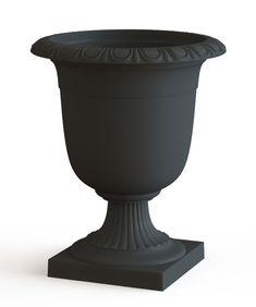 Crescendo Planter Crescendo W x H Slate Rubber Self-Watering Urn Zinc Planters, Black Planters, Planter Pots, Self Watering Planter, Recycled Rubber, Water Conservation, Plant Needs, Outdoor Plants, Urn