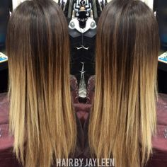 Ombré, blonde, hair painting, Brown to blonde ombré, Hair by Jayleen, The Hot SeaT salon