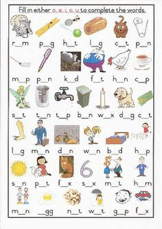 CVC Worksheet Grade 1 Initial and final sounds, only a and e ...