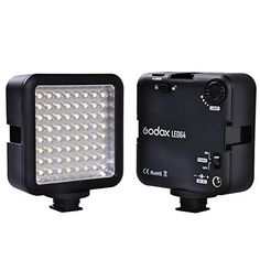 Godox LED 64 Continuous On Camera LED Panel lightPortable Dimmable Camera Camcorder Led Panel Video Lighting for DSLR Camera CononNikonSonyPanasonicOlypusFuji etcNeewer Godox Led lighting (View amazon detail page)