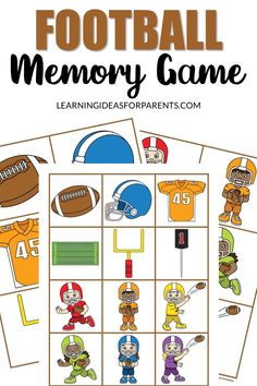 Help your child learn about football with this easy memory game. Includes 12 fun pictures related to the sport. Pictures Of People, Cool Pictures, Sorting Games, Memory Games For Kids, Popular Sports, Different Games, Photo Storage, T Play, Game Pieces