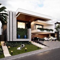 You can fix your home exterior design even if you do not have much money. In this article I am going to talk about the ways to improve your home exterior design. Appealing design will enhance the aesthetic values of… Continue Reading → Duplex House Design, House Front Design, Modern Exterior, Exterior Design, Exterior Paint, Mansion Designs, Modern Villa Design, Best Modern House Design, Dream House Exterior