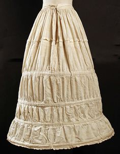 Crinoline  Date:1840s  Culture:     American or European  Credit Line:    Gift of Lee Simonson, 1938  Accession Number: C.I.38.23.277 MET