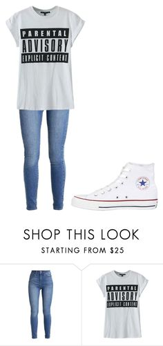 """""""Untitled #348"""" by thenerdyfairy on Polyvore featuring WithChic and Converse"""