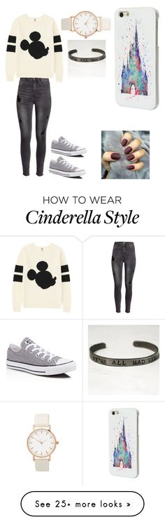 """Fall"" by arielattack on Polyvore featuring moda, H&M, Uniqlo, Converse e Disney"