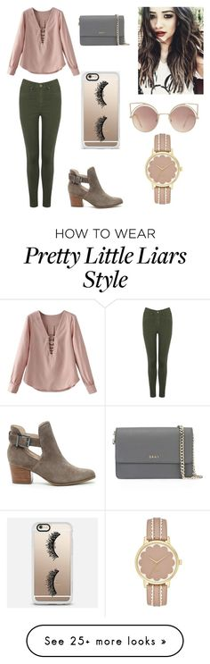 """Pretty Little Liars: Emily"" by mae-emma on Polyvore featuring Oasis, Sole Society, DKNY, Casetify and MANGO"