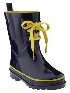 Lace-up rain boots | Gap...so cute for spring!