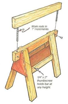 There were many times when I wished sawhorses were a little higher, or even a lot higher. #WoodworkingTools
