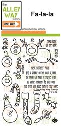 Fa-la-la TAWS, The Alley Way Stamps, Clear Stamps, handmade cards