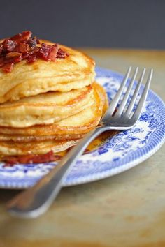 Happiness lies right here in these Brown Sugar Maple Bacon pancakes. The perfect post 4th July breakfast to whip up for friends and family!