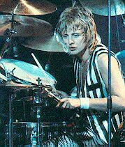 Queen drummer Roger Taylor in the day--one of rock's best ever drummers--see the Top 10!