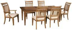 Legacy Classic-Brownstone Village-Legacy Classic Brownstone Village 7 Piece Dining Set - Jordan's Furniture