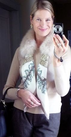 MaiTai's Picture Book: Aux Pays des Epices with MaiTai Collection SAGA fox fur collar in poudre