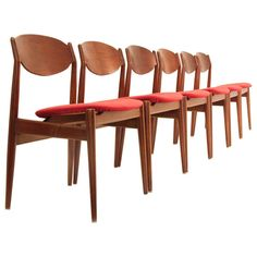 Dining Chairs from ISA Bergamo, 1960s, Set of Six