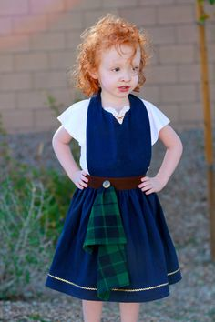 BRAVE Merida inspired APRON. Fits sizes 2t by QueenElizabethAprons, $39.99