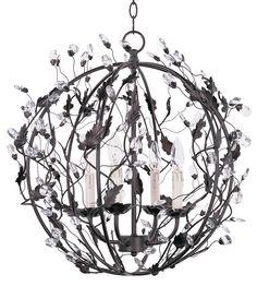 Karina 4 Light Crystal Globe Pendant