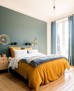 Modern Bedroom Ideas - Looking for the very best bedroom decoration ideas? Utilize these lovely modern bedroom ideas as inspiration for your own wonderful designing plan . Contemporary Bedroom, Modern Bedroom, Master Bedroom, Tranquil Bedroom, Bedroom Paint Colors, Bedroom Green, Home Decor Bedroom, Bedroom Ideas, Design Bedroom