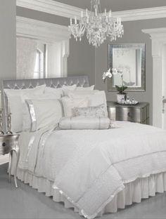 Black White and Silver Bedroom Decor. 20 Black White and Silver Bedroom Decor. Gray Bedroom, Silver Bedroom Decor, Fairy Bedroom, White Bedrooms, Trendy Bedroom, Master Bedrooms, Modern Bedroom, Silver And Grey Bedroom, Peach Bedroom