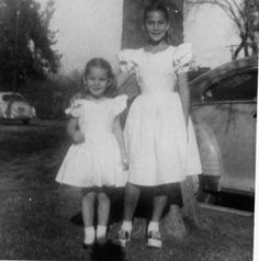 Cher on the right, with her sister Georganne