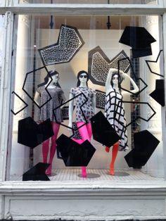 Nathalie Du Pasquier windows in Lower Broadway NYC! #AmericanApparel