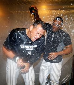 Al East champs A-Rod & Grandy ❤ Yankees Baby, Vince Lombardi, Alex Rodriguez, Win Or Lose, New York Yankees, Champion, Baseball, Celebrities, Pride