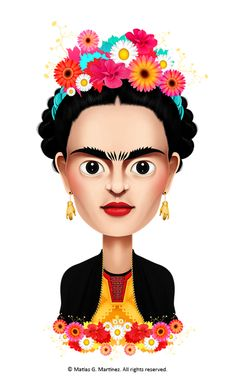 matiasgemartinez:  This is my first post ever on Tumblr. It's an illustration I made about one of my favorite artist, Frida Kahlo. If you wa...