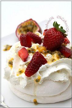 Pavlova fraise et fruits de la passion à faire absolument pour paques