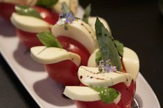 Amazing and Beautiful Caprese salad with a face lift ;)