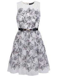 Little Mistress - Krémové šaty s černými květinami - 1