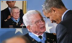 "#DailyMailUK ..... ""President Obama awarded the nation's highest military honor to Vietnam War Lt. Col. Charles Kettles.. Obama said Kettles' bravery nearly 50 years ago serves as great inspiration at a time when Americans could use some.. Kettles led helicopter flights carrying reinforcements to U.S. soldiers and evacuated the wounded after they were ambushed in combat operations.""…"