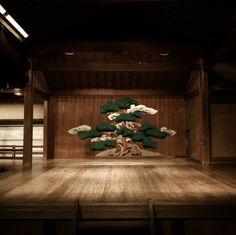 Noh stage by Masahiro Makino