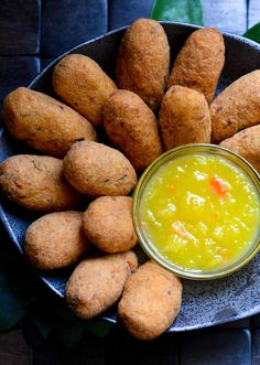 """These saltfish cakes are spicy, but everyone seems to love that aspect. Aunty Savi always said, """"fish cake does need good peppa,"""" good meaning a lot of. Salt Fish Cakes Recipe, Guyanese Recipes, Cod Recipes, Raw Food Recipes, Fish Recipes, Indian Food Recipes, Beef Recipes, Cooking Recipes, Recipes"""