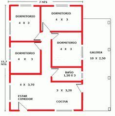 Little House Plans, Guest House Plans, Small Modern House Plans, Small House Floor Plans, Beautiful House Plans, Home Design Floor Plans, House Layout Plans, Bungalow House Plans, New House Plans