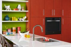 cheerful kitchen colors by The Formica Laminate Jonathan Adler Collection