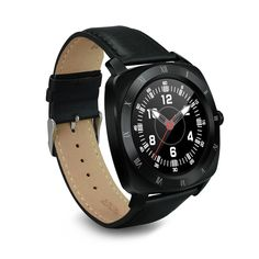 57.50$  Watch here - http://alipb0.shopchina.info/go.php?t=32801480601 -  Fashion DM88 Smart Watch Round Display Leather Strap Bluetooth Smartwatch Support Heart Rate Monitor For IOS Android Smartphone  #aliexpress