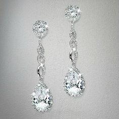 Bridal Opulent Cubic Zirconia Earrings from LucyAlia's Bridal Closet