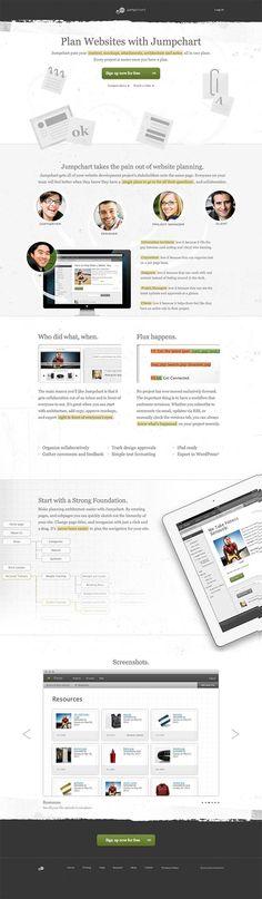 Jumpchart---Website-Planning app site landing page