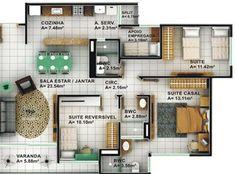 quarto pequeno reversível banheiro empregada criar suite - Pesquisa Google