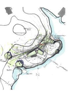 Image 26 of 32 from gallery of Buholmen Cottage / SKAARA Arkitekter AS. Architecture Site Plan, Architecture Graphics, Urban Architecture, Architecture Drawings, Concept Architecture, Architecture Diagrams, Architecture Portfolio, Conceptual Sketches, Plan Sketch