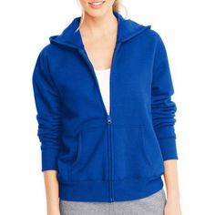 Hanes Women's Fleece Zip Hoodie, Blue