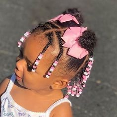 Black Baby Girl Hairstyles, Little Girl Braid Hairstyles, Mixed Kids Hairstyles, Little Girl Braids, Girls Natural Hairstyles, Natural Hairstyles For Kids, Braids For Kids, Long Ponytail Hairstyles, Toddler Braided Hairstyles