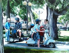 Image result for scooter painting