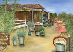 """""""Reposer Vos Roues"""" by British acrylic artist Diane Holmes."""