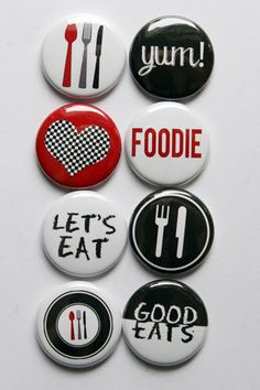Good Eats Flair by aflairforbuttons on Etsy, $6.00