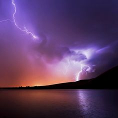 Lit up by lightning. Beautiful.