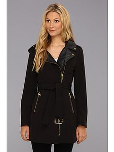MICHAEL Michael Kors Asymmetrical Belted Trench M520852A
