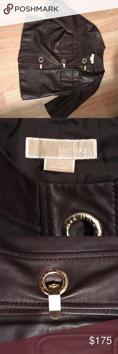 Spotted while shopping on Poshmark: Michael Kors Genuine Leather Jacket! #poshmark #fashion #shopping #style #Michael Kors #Jackets & Blazers