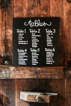 table seating chart.