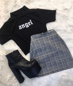 clothes for women,casual outfits,base layer clothing,casual outfits Teenage Outfits, Teen Fashion Outfits, Edgy Outfits, Mode Outfits, Retro Outfits, Korean Outfits, Grunge Outfits, Outfits For Teens, Vintage Outfits