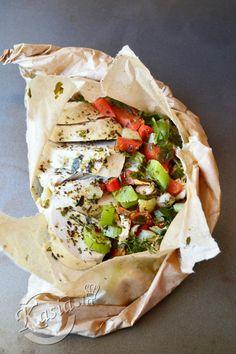 Gotowany kurczak zapieczony z warzywami